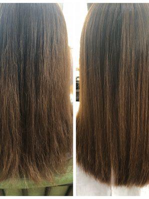 縮毛矯正施術例7