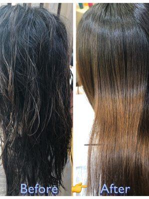 縮毛矯正施術例3