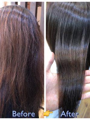 縮毛矯正施術例2