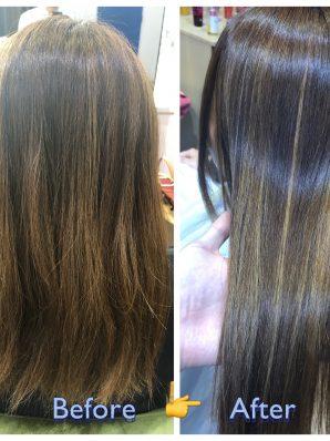 縮毛矯正施術例1